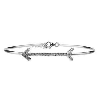 Journee Collection Sterling Silver Cubic Zirconia Arrow Bracelet