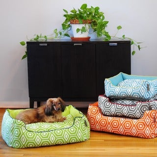 EZ Living Home Honeycomb Reversible Bolster Pet Bed
