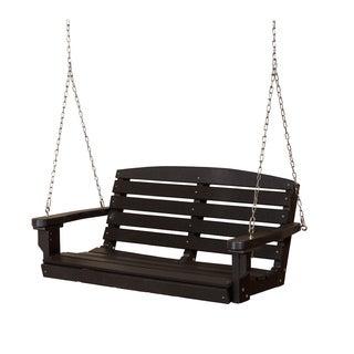 Somette Terra Black Poly Lumber Outdoor Swing