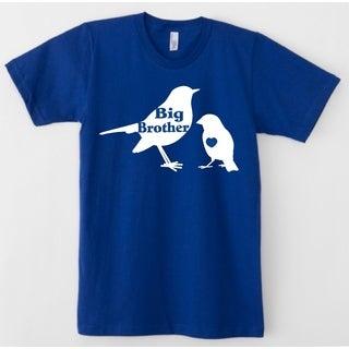 Rocket Bug Toddler's Blue Big Brother Bird Cotton Shirt
