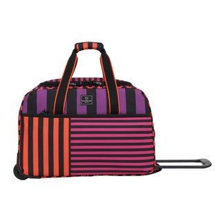 French West Indies 21-inch Carry On Rolling Purple Duffel Bag
