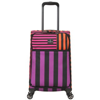 French West Indies 20-inch Carry-On Spinner Upright Striped Suitcase