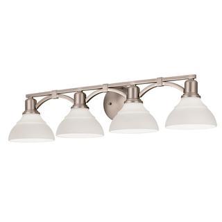 Kichler Lighting Transitional 4-light Brushed Nickel Bath/Vanity Light