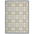 Nourison Home and Garden Blue Rug (6'6 x 9'9)