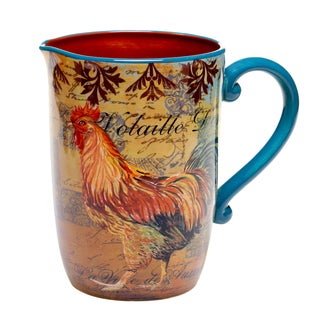 Rustic Rooster 3-quart Pitcher