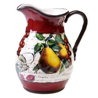 Botanical Fruit 3-quart Pitcher