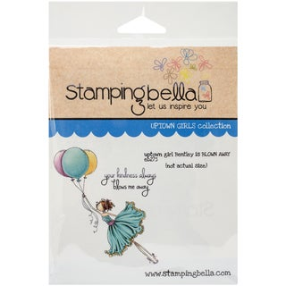 """Stamping Bella Cling Rubber Stamp 3.75""""X5""""-Uptown Girl Bentley Gets Blown Away"""