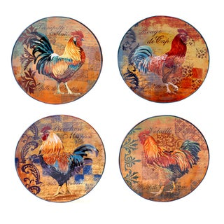 Rustic Rooster 11-inch Dinner Plate (Set of 4)