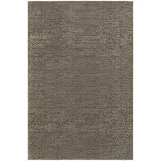 Distressed Grey/ Brown Stripe Area Rug (6'7 x 9'6)