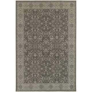 Updated Persian Grey/ Ivory Rug (5'3 x 7'6)