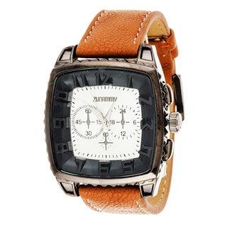 Xtreme Zunammy Men's Gunmetal Square Case/ Brown Leather Watch