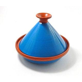 Le Souk Ceramique 9-inch Turquoise Cookable Tagine (Tunisia)