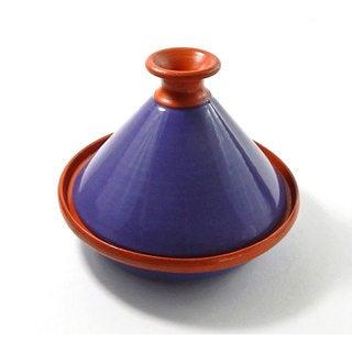 Le Souk Ceramique 9-inch Purple Cookable Tagine (Tunisia)