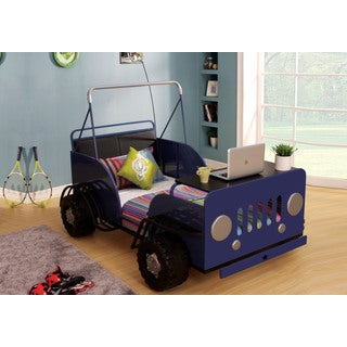 Casper Blue and Black Car Theme Twin Bed