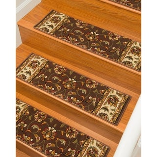 Natural Area Rugs Handcrafted Summit Carpet Stair Tread with Landing Mat ('9 x 2'5) (Set of 13)