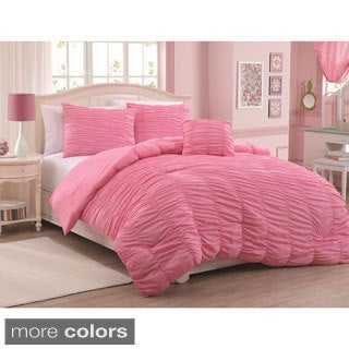 Mandy 4-piece Microfiber Mini Comforter Set