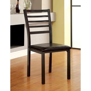 Furniture of America Hartley Black Dining Chair (Set of 2)
