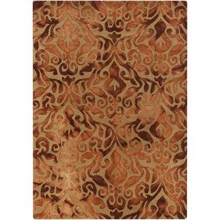 Hand-Tufted Newlyn Damask Pattern Wool Rug (8' x 10')