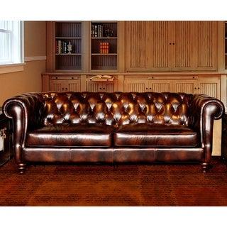 Lazzaro Beaufort Leather Sofa