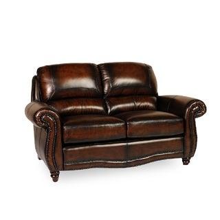Lazzaro Masa Leather Love Seat