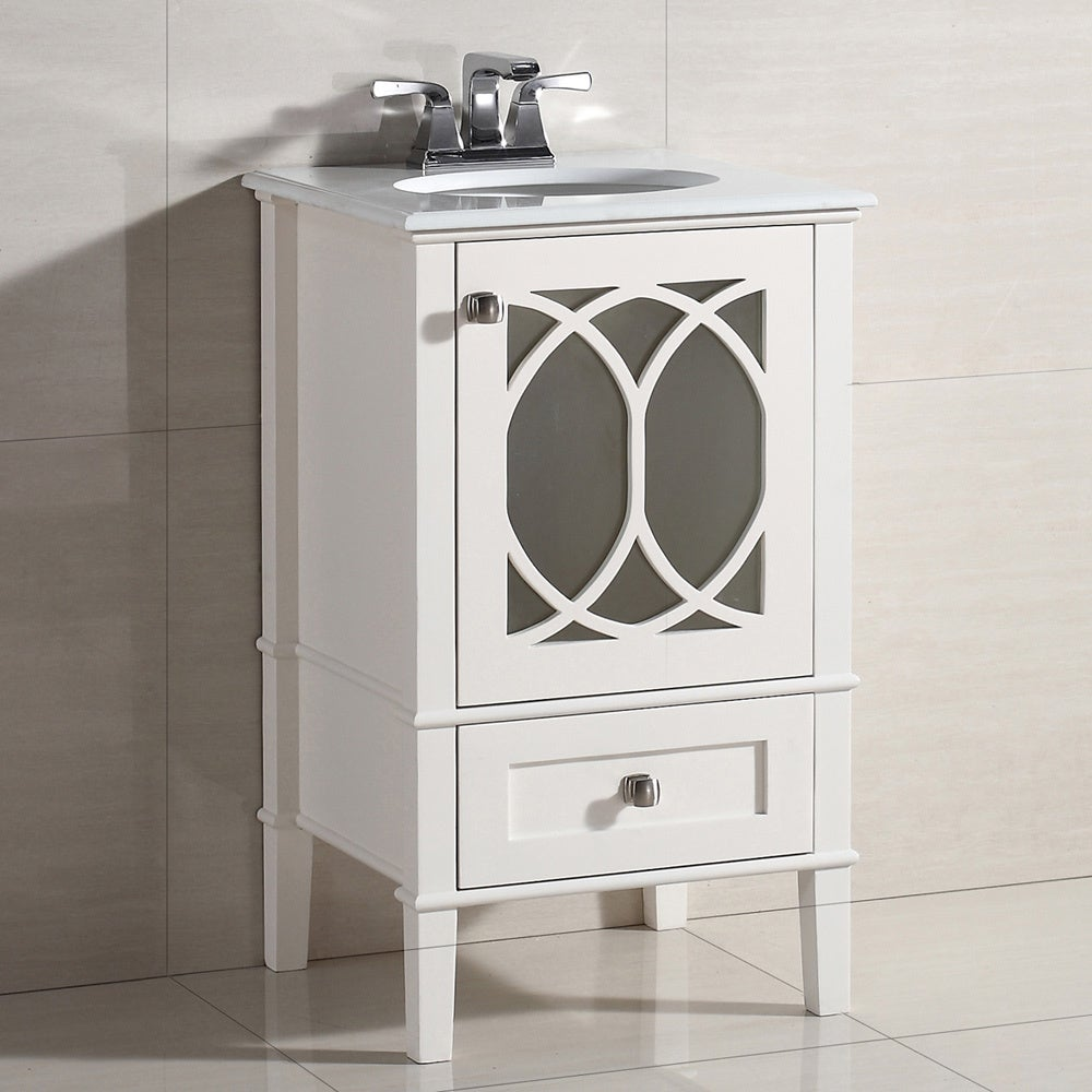 Wyndenhall Mulberry 20 Inch White Quartz Marble Top Bath Vanity Overstock Shopping Great