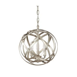 Capital Lighting Axis Collection 3-light Orb Pendant in Winter Gold
