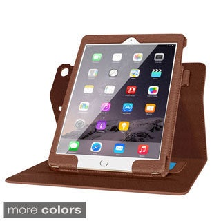 rooCASE Dual View Leather Folio Stand Case with Smart Cover for Apple iPad Air 2