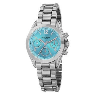Akribos XXIV Women's Swiss Quartz Dual-Time Multifunction Bracelet Watch