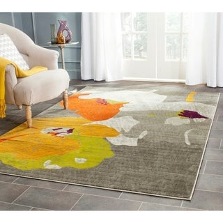 Safavieh Porcello Dark Grey/ Ivory Rug (9' x 12')