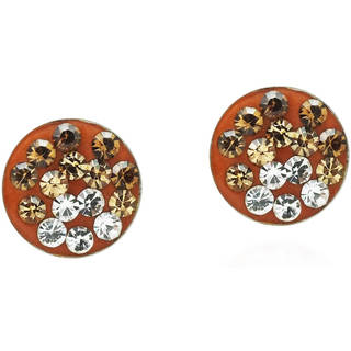 Ombre Spark Crystal .925 Silver Round Post Earrings (Thailand)