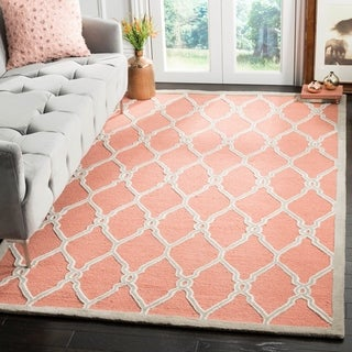 Safavieh Hand-Tufted Cambridge Coral/ Ivory Wool Rug (9' x 12')