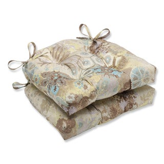 Pillow Perfect Windflower Celestial Reversible Chair Pad (Set of 2)
