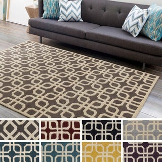 Artistic Weavers Hand-tufted Brigg Crosshatched Wool Rug (8' x 11')