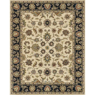 Hand-tufted Mason Beige/ Black Wool Rug (7'9 x 9'9)