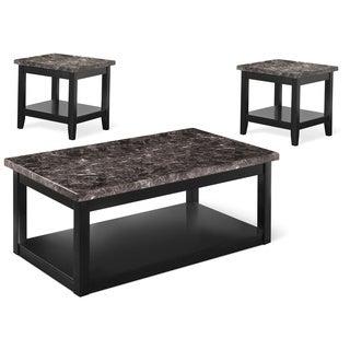 Art Van 3-piece Faux Marble Occasional Table Set