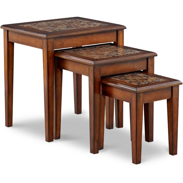 Art van baroque nesting chairside tables overstock for Art van coffee tables