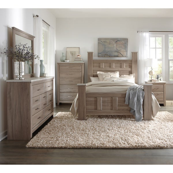 Art van 6 piece king bedroom set overstock shopping for Bedroom setting ideas