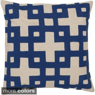 Jones 18-inch Decorative Geometric Down or Polyester Filled Throw Pillow
