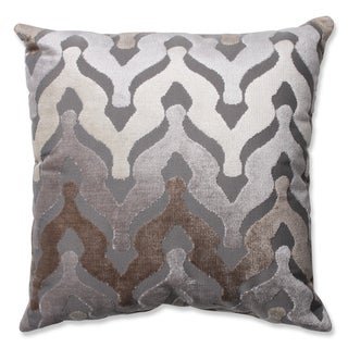 Pillow Perfect Monroe Driftwood Cut Velvet Throw Pillow