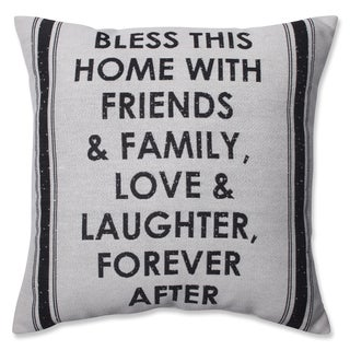 Pillow Perfect Home with Friends & Family 18-inch Throw Pillow