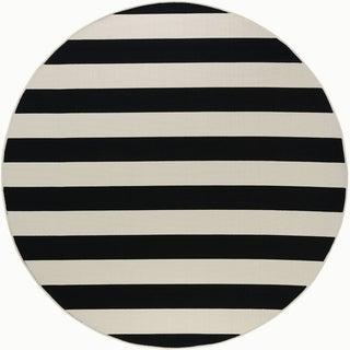 Alise Garden Town Stripe Area Rug (7'10 Round)
