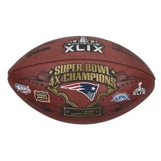 Super Bowl XLIX Patriots 4x Championship Football