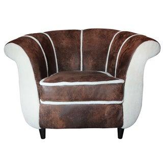 Maverick Distressed Lambswool Club Chair