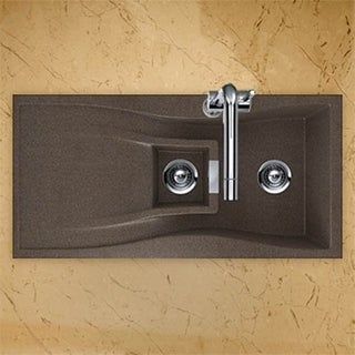 Houzer Cristadur Undermount/ Drop-in Bronze Granite Kitchen Sink