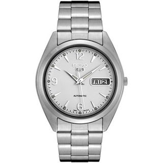 Seiko Men's 5 Automatic SNX121K White Stainless-Steel Automatic Watch