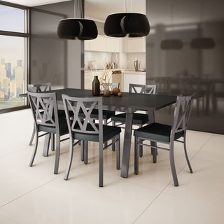 Amisco 'Washington' Metal Chair and 'Drift' Table Dining Set (4, 6 or 8 chairs)