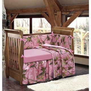 HiEnd Accents Pink Camo Crib Bedding Set
