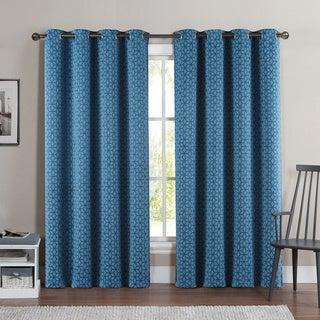 Victoria Classics Duncan 84-Inch Grommet Top Blackout Curtain Panel Pair