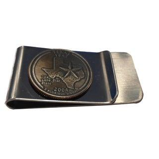 Texas State Quarter Money Clip