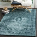 Safavieh Vintage Light Blue/ Dark Blue Viscose Rug (9' x 12')